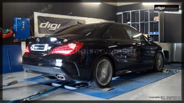 Reprogrammation moteur Mercedes CLA C220CDI au banc